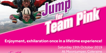 Jump for team pink